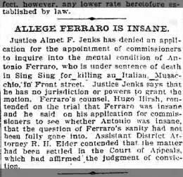 Brooklyn Eagle, Feb. 2, 1900, page 3, col. 6