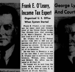 Frank O'Leary Obit