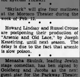 Cute Clipping - Arsenic and Old Lace