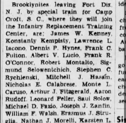 Daddy's ship out from Ft. Dix, Brooklyn Daily Eagle, Monday, Oct. 13, 1941