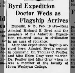 Helen Gray & Thomas Poulter marry 18 Feb 1935