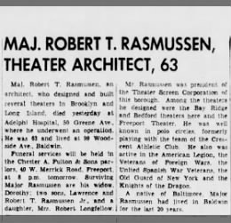 Obituary for Major Robert T. Rasmussen