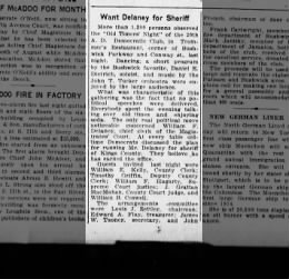 My mothers great uncle Daniel E Dietrich 1923 Brooklyn Daily Eagle