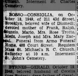 Aunt Rose's mom 20 Oct 1949