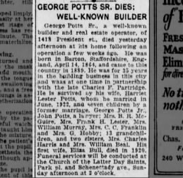 George Potts obituary