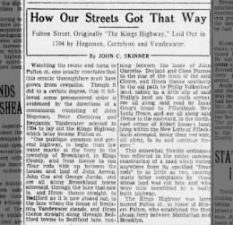 how our streets got that way 4/6/29
