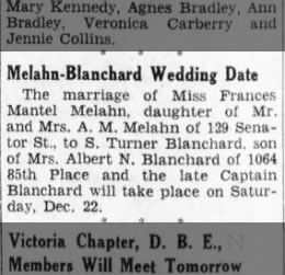 Melahn Blanchard Wedding