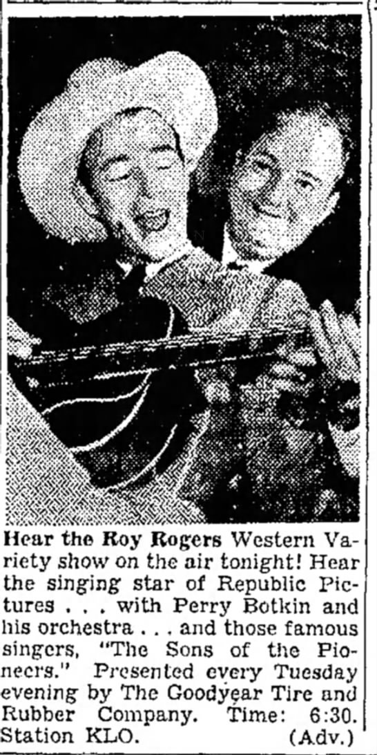 Perry Botkin and Roy Rogers - Salt Lake Tribune 6 Mar 1945 p9