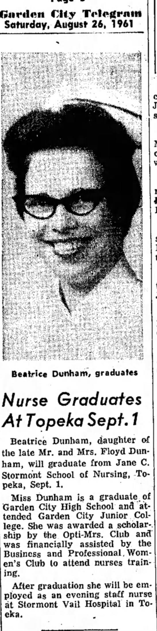 Betty Dunham 1961