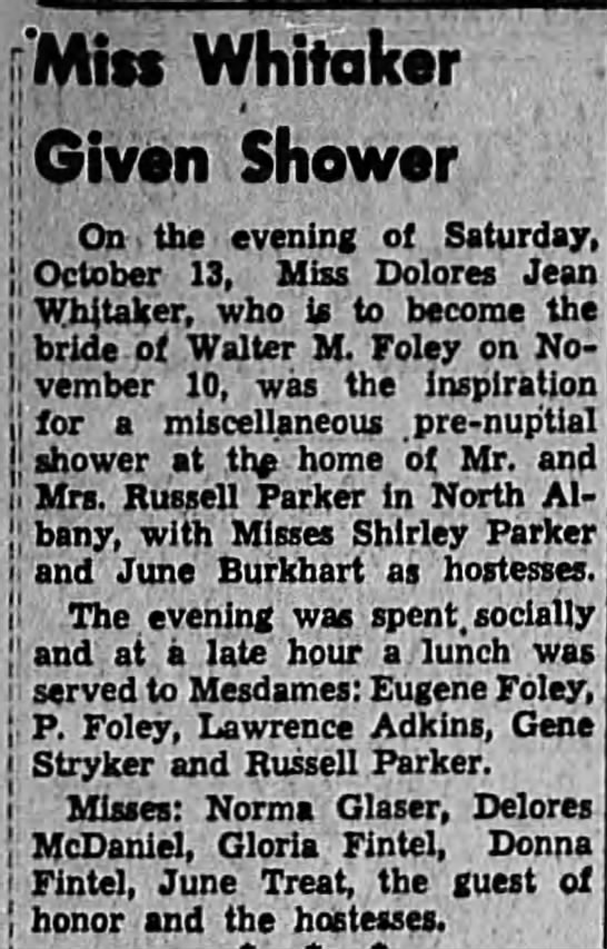 1951-10-27 Shower for Dolores Whitaker