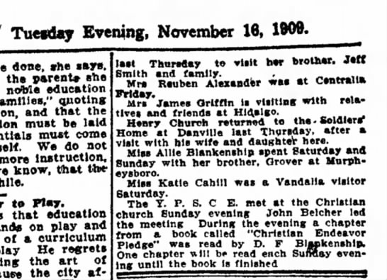 The Daily ReviewDecatur, Illinois16 November 1909, page 4