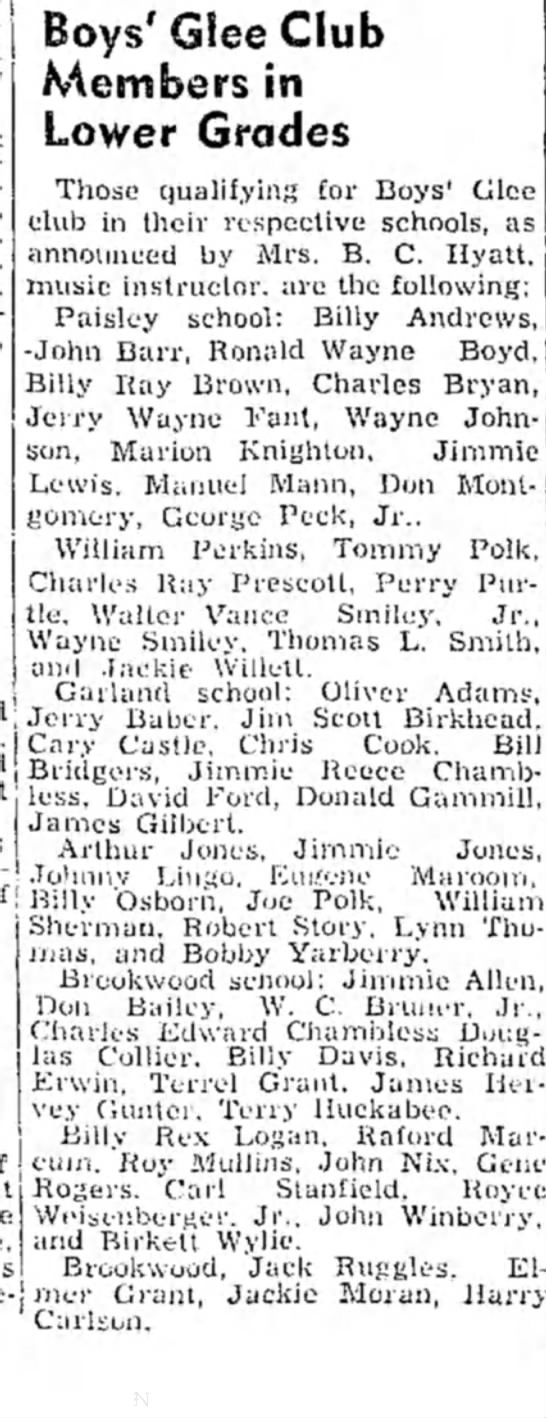 Winberry HS 7 Oct 1949p1