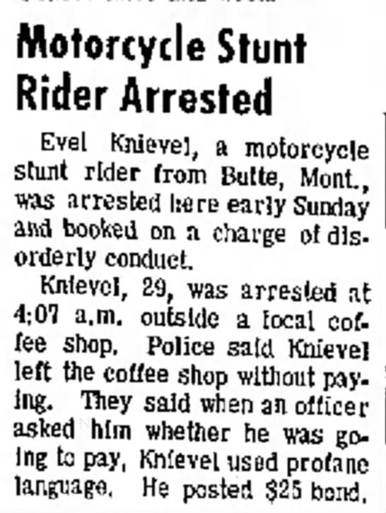 Evil Knievel, always so daring. #evil #daring #lol #stunt
