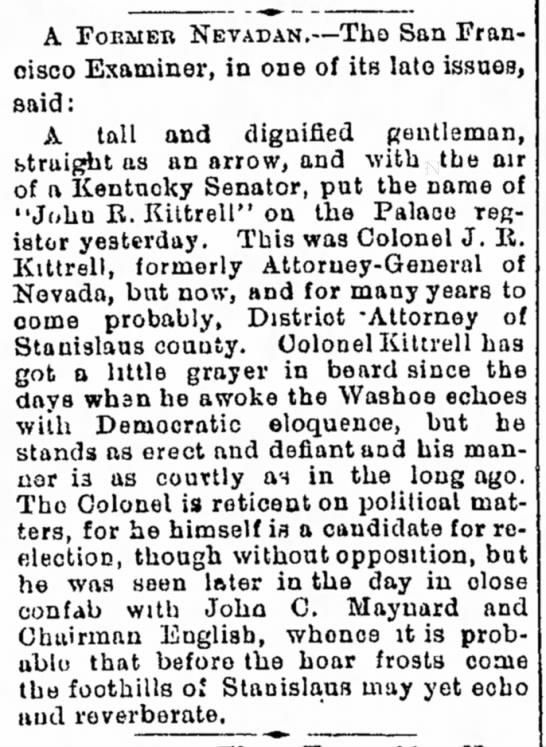 John R Kittrell note.