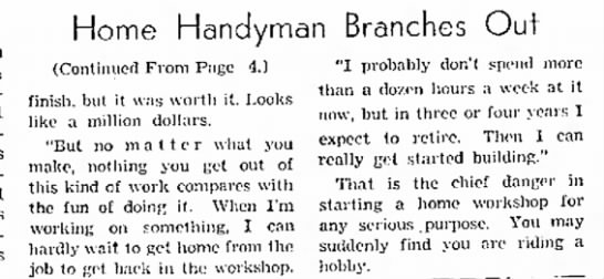 Glenn Byron Wainner, home handyman, 02 May 1954,  Part 2