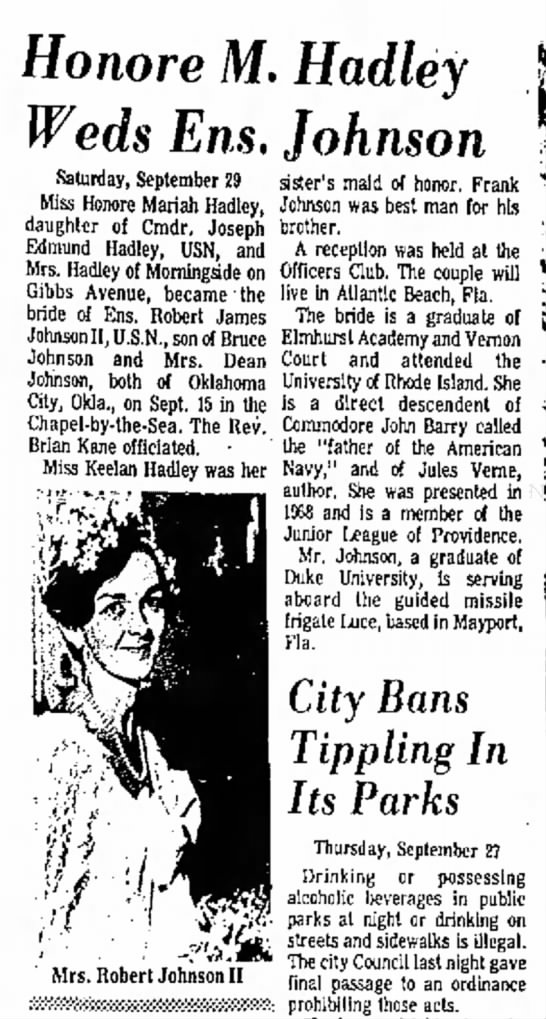 Honore Hadley wedding