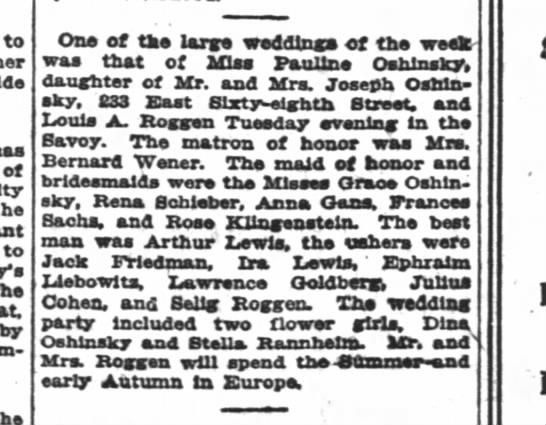 Louis Roggen wedding