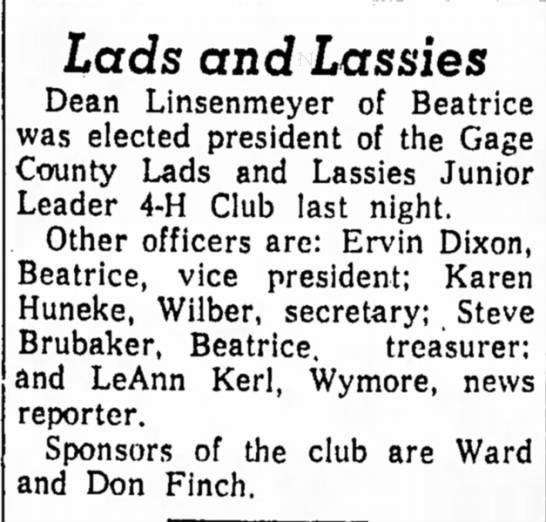 Kerl, LeAnn 22 Mar 1963