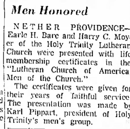 Men Honored