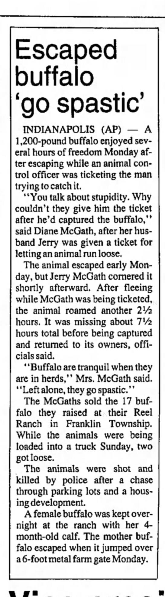 Buffalo Jerry McGath