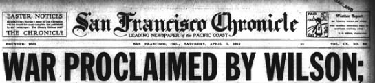 The United States Declared War on Germany on April 6, 1917.