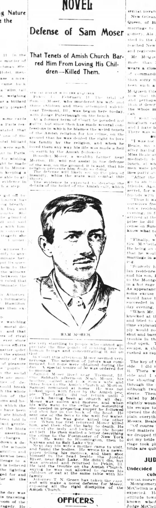Cincinnati Enquirer 2.12.1901 PEN DRAWING OF SAM