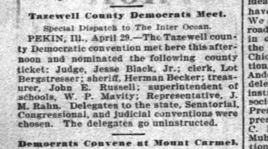 1902.4.30 Jesse Black nominated as judge