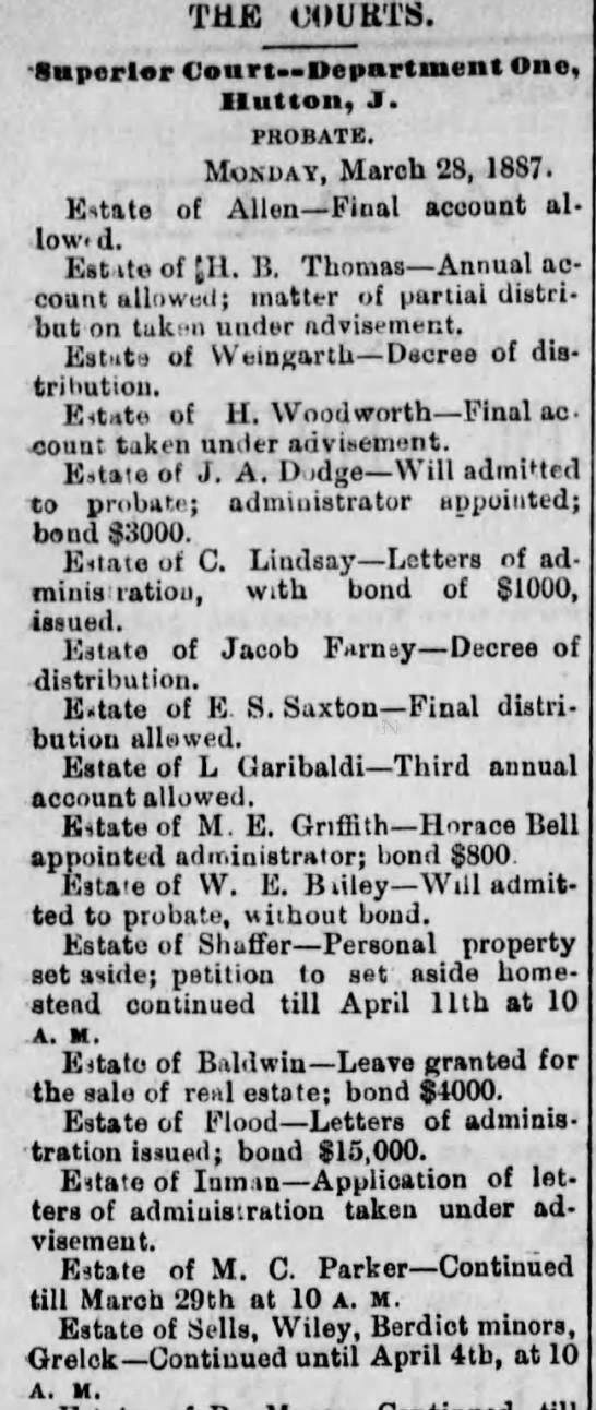 John Grelck probate 29 Mar 1887