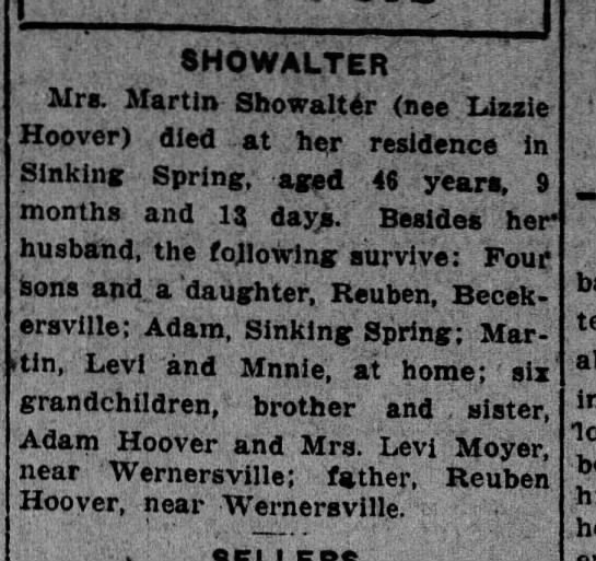 Obituary for Lizzie Hoover