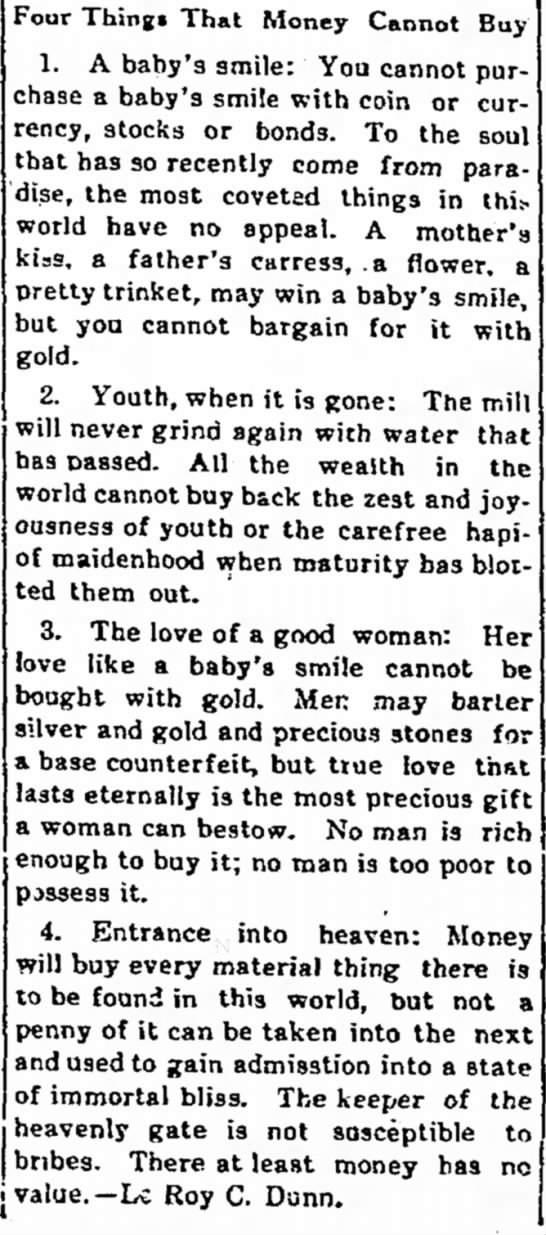 In the 1-27-1921 Lake Park News, Lake Park Iowa...by LeRoy C Dunn