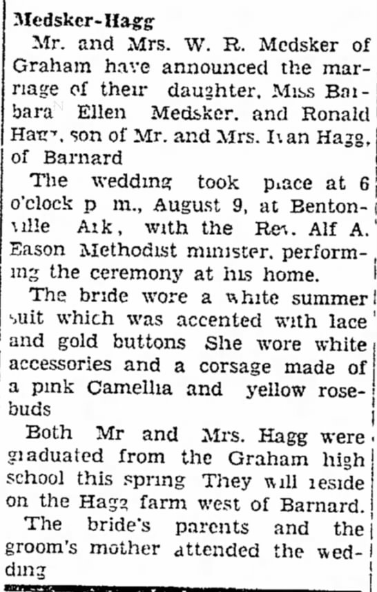 Barbara wedding Aug 12 1949 pg 3 Maryville Daily Forum