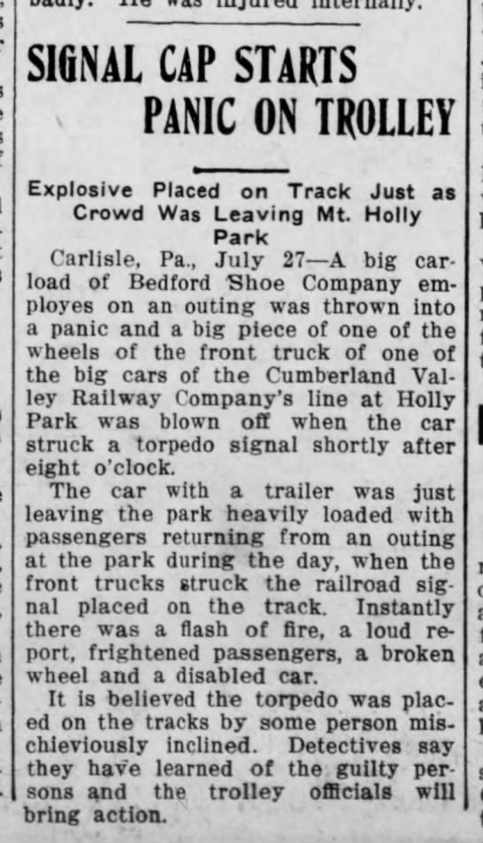 Trolley issue 1912