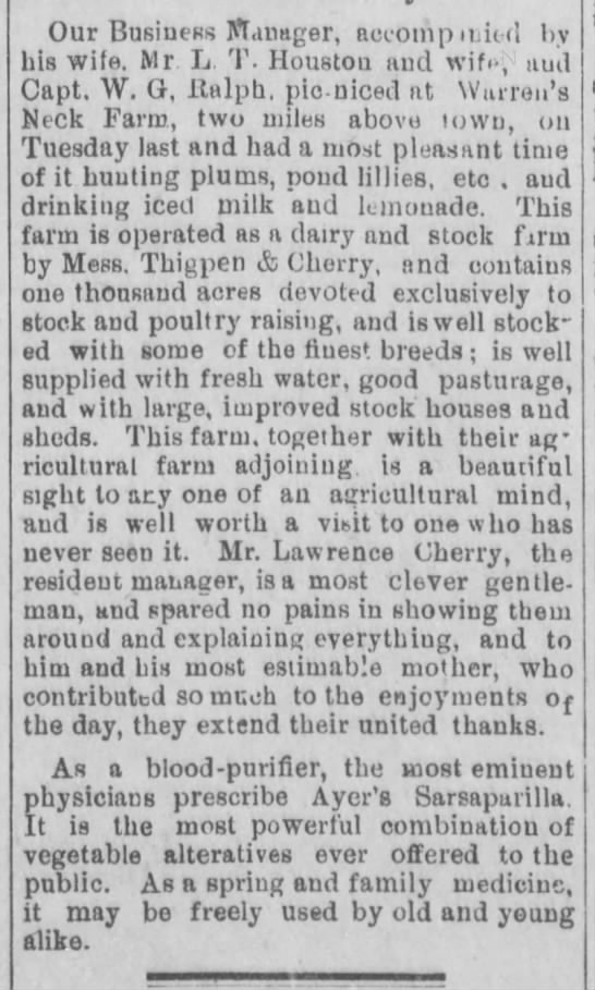 Roanoke Beacon (Plymouth, NC) Friday, 24 June 1892