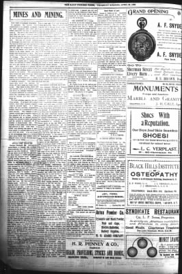 The Daily Deadwood Pioneer-Times from Deadwood, South Dakota on April 20, 1899 · Page 4