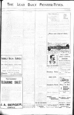 The Daily Deadwood Pioneer-Times from Deadwood, South Dakota on July 12, 1900 · Page 7