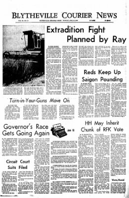 The Courier News from Blytheville, Arkansas on June 10, 1968 · Page 1