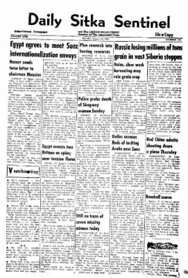 Daily Sitka Sentinel from Sitka, Alaska on August 28, 1956 · Page 1