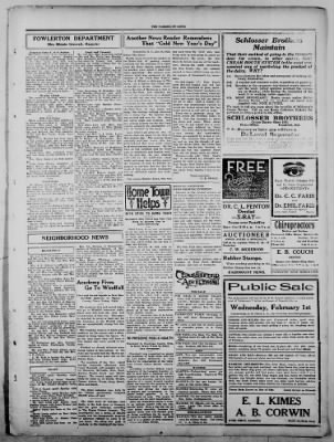 The Fairmount News from Fairmount, Indiana on January 26, 1922 · Page 3