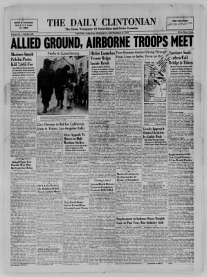 The Daily Clintonian from Clinton, Indiana on September 21, 1944 · Page 1