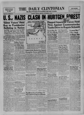 The Daily Clintonian from Clinton, Indiana on November 6, 1944 · Page 1