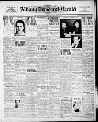 Albany Democrat-Herald from Albany, Oregon on May 2, 1936 · Page 1