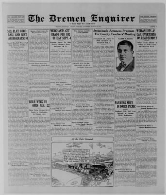 The Bremen Enquirer from Bremen, Indiana on August 21, 1924 · Page 1