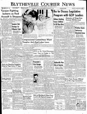 The Courier News from Blytheville, Arkansas on December 29, 1952 · Page 1