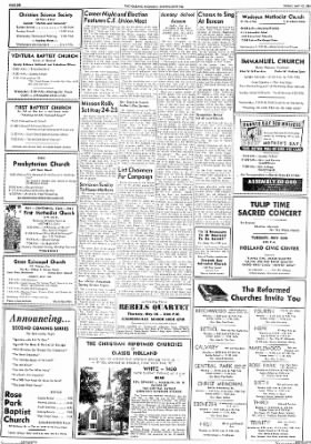 The Holland Evening Sentinel from Holland, Michigan on May 12, 1961 · Page 14