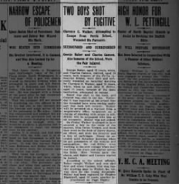 1910 Ferris boy shoots 2 boys while escaping; pt 1