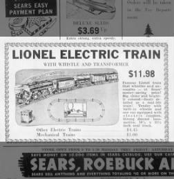 A prewar 1684 freight set from Lionel. December 1941.