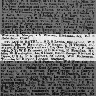 WSR in New Orleans in 1856?