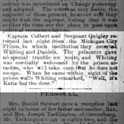 james quigley srgt 20 June 1885 indy news