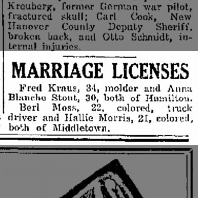 Fred Kraus engaged to Aura Blanche Stout (1929)
