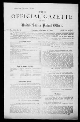 Official Gazette of the United States Patent Office from Washington, District of Columbia on January 29, 1924 · Page 1